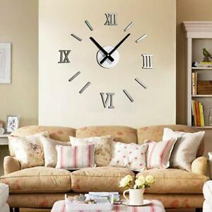 3D-Frameless-GIANT-ADHESIVE-WALL-CLOCK-STICKER-Watches-Living-Home-Beauty-Trendy