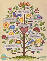 Cross Stitch Kit Dimensions Vintage Style Family Tree 70-73817