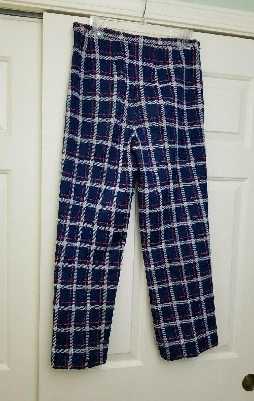 VTG 70s 80s Women's Bleyle Plaid Pants Blue Red W… - image 3