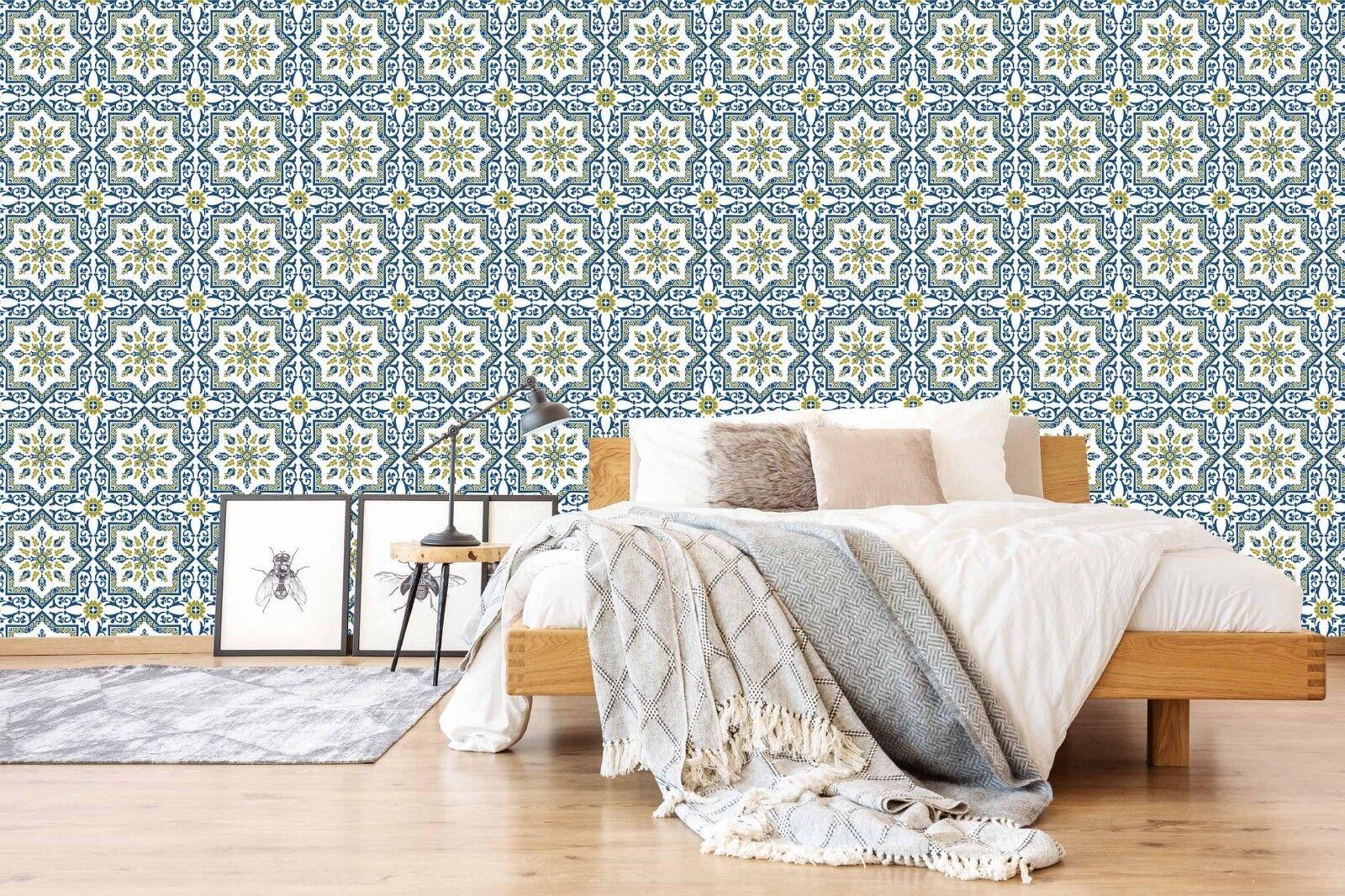 3D Golden Blumen 706 Tapete Wandgemälde Tapete Tapeten Bild Familie DE Lemon