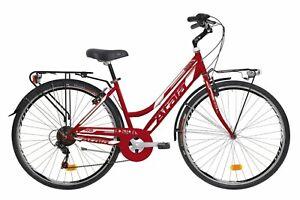 Bike-Track-Bicycle-Atala-Boston-6V-Women-039-s-2019-Shimano-Turney-Steel-Pink