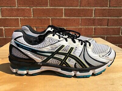 ASICS GEL KAYANO 18 RUNNING MEN SHOE SIZE 13 US 48 EU WHITE BLACK BLUE T200N | eBay