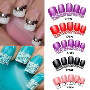 3d Transfer Lace Design Nail Art Stickers Manicure Diy Nail Tips