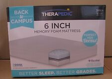Therapedic 6 Inch Memory Foam Mattress Twin XL Back to Campus New in Box