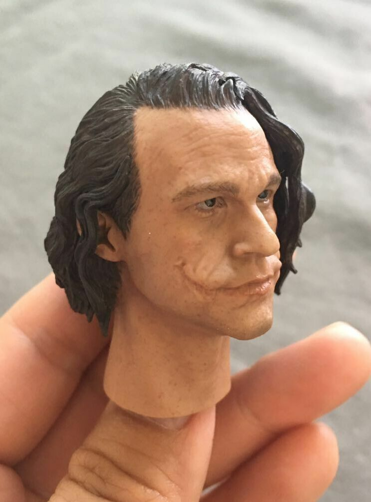 1 6 Scale Head Sculpt Batman Batman Batman Joker  Clown Heath Ledger fit hot toys 12  body fe719f