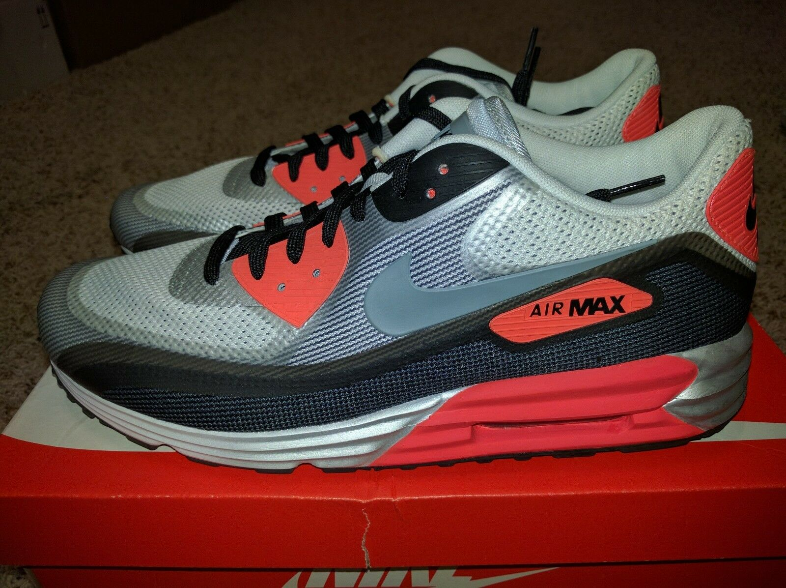 sports shoes 2dcd8 2a8b1 Nike Air Max Lunar90 Infrared Infrared Infrared White Black Hyperfuse Ultra  C3.0 All