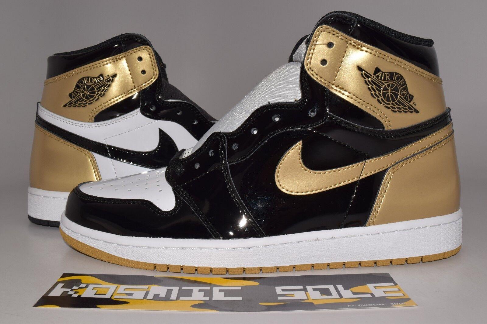 Nike air jordan 1 retro - top 3 gold - größe.