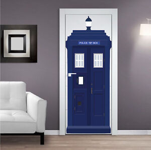 Image is loading Dr-Who-Tardis-Wall-Decal-Sticker-Room-Wallpaper- & Dr Who Tardis Wall Decal Sticker Room Wallpaper Tardis Door Decal ...