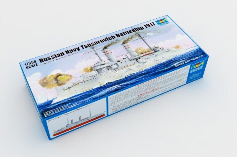 05337 Trumpeter Model DIY 1 350 Russian Navy Tsesarevich Battleship Battleship Battleship 1917 Warship 28b213