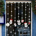 Christmas Shop Decorations Glass Window Stickers Snowman Ornament Wall Sticker