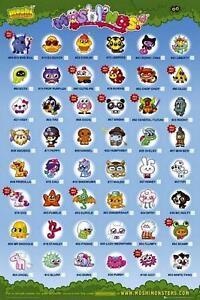 Moshi-Monsters-Moshlings-Tick-Chart-Maxi-Poster-61cm-x-91-5cm-NEU-und-versiegelt