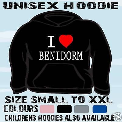 I Love Heart Benidorm Kids Hoodie Sweatshirt