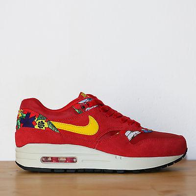Détails sur Nike Wmns Air Max 1 Print 5.5us 36eu Aloha Pack Red Black Rouge Noir Sneakers