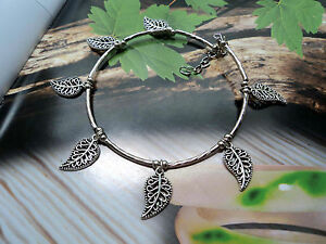 Fashion Jewelry Sweet-Tempered Tibet Tibetan Silver Hanging Leaf Anklet A530
