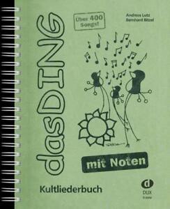 """Kultliederbuch Das Ding mit Noten 2 1 Bleistift /""""Musikmotiv/"""""""