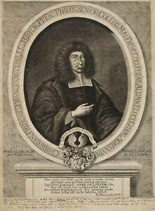 ROMSTET, Portrait des Historikers Christian F. Franckenstein, 17. Jh., Radierung