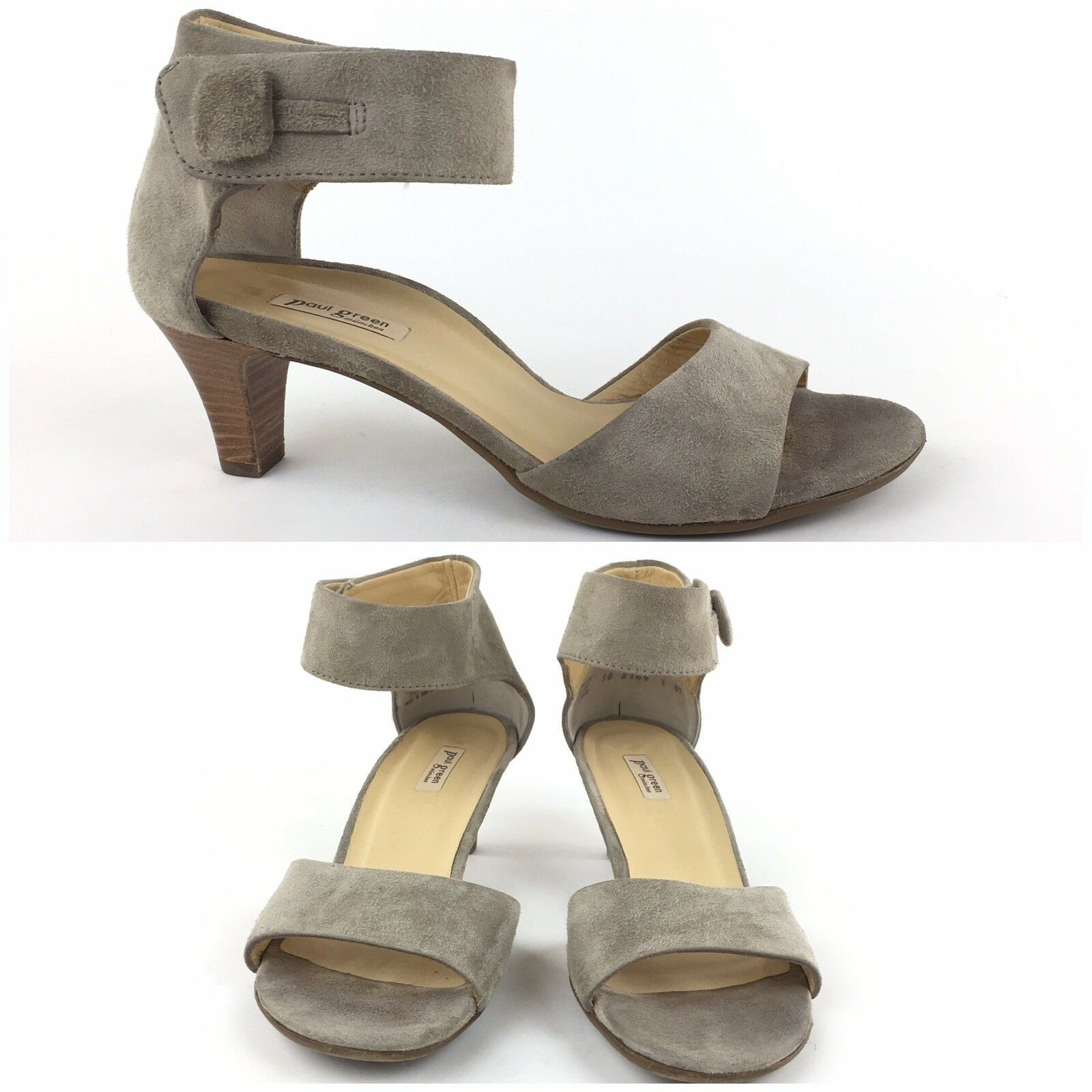 Paul Green Maya Pumps US 6.5 Ankle Strap Suede