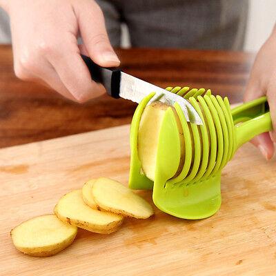 1× Potato Food Tomato Onion Lemon Vegetable Fruit Slicer Egg Peel Cutter Holder