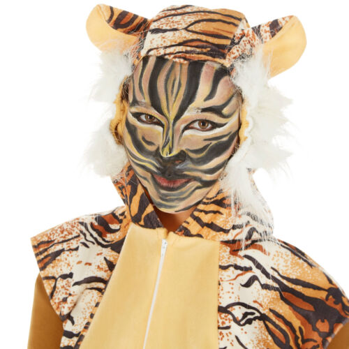 Déguisement de tigre pour Adulte animal jungle zoo mascotte carnaval costume
