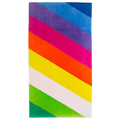 NEW Vue Utopia Printed Beach Towel: Rio Stripe Pink