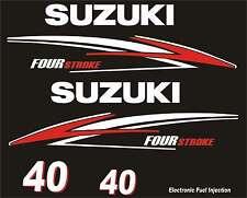 Adesivi motore marino fuoribordo Suzuki 40hp four stroke