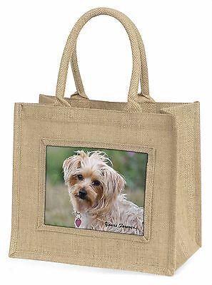 Yorkshire Terrier dir für immer Große Natürliche Jute-einkaufstasche Ch,