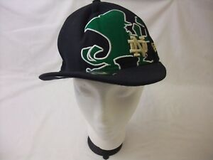 585ad3e2ed7 New Era 59FIFTY Notre Dame Fighting Irish Fitted Cap Hat - Size  7 1 ...