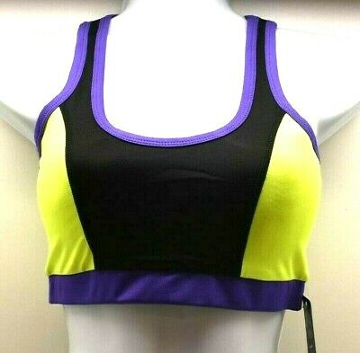 Yoshion  Sports Bra Gym Tights Act Wear Lime//Black Sz M FREE SHIPPING BRAND NEW