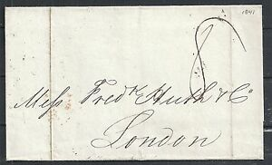 Spanish Antilles covers 1841 folded cover to London