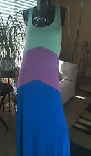 JCPenney a.n.a. Chevron Tri-colorblock Jersey Tank Top Maxi Dress - Sz M NWOT!