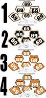 2002-2003 Ktm Exc Number Plates Side Panels Graphics Decal
