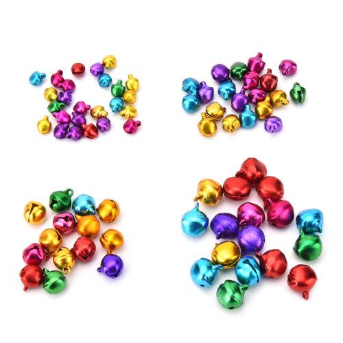 Set Kleine Jingle Bells Bunte Lose Perlen Dekoration Anhänger DIY ZP 100X
