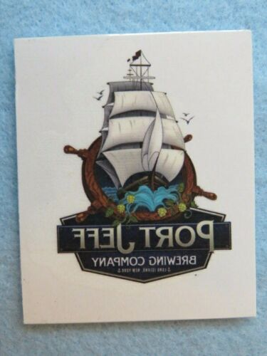 NY Beer Temporary Tattoo Sticker Port Jeff Brewing Company ~ Port Jefferson