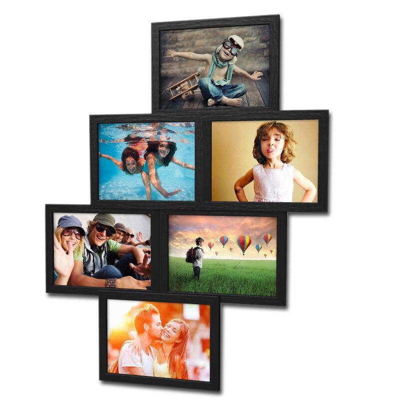 603 Bilderrahmen für 6 Bilder 10x15 cm Galerie 3D Collage Set Foto ...