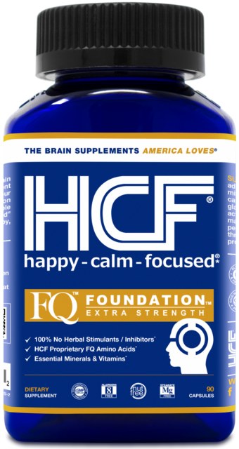 HCF Happy, Calm & Focused | 100% No Herbal Stimulants | Brain Supplement