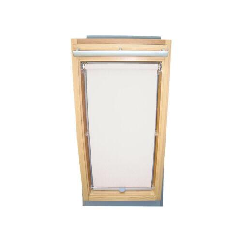 Dachfensterrollo Sichtschutz für Velux Dachfenster VL//VF//VT weiß