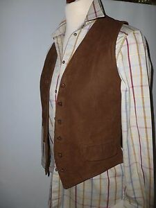 a pelle ascella in 10 Gilet Reed Vintage vera 18 Austin 12 Sizeuk Iw6vqv
