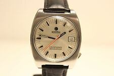 "VINTAGE RARE ALL STEEL SWISS MEN'S AUTOMATIC WATCH""ROAMER""MUSTANG INDIANAPOLIS"