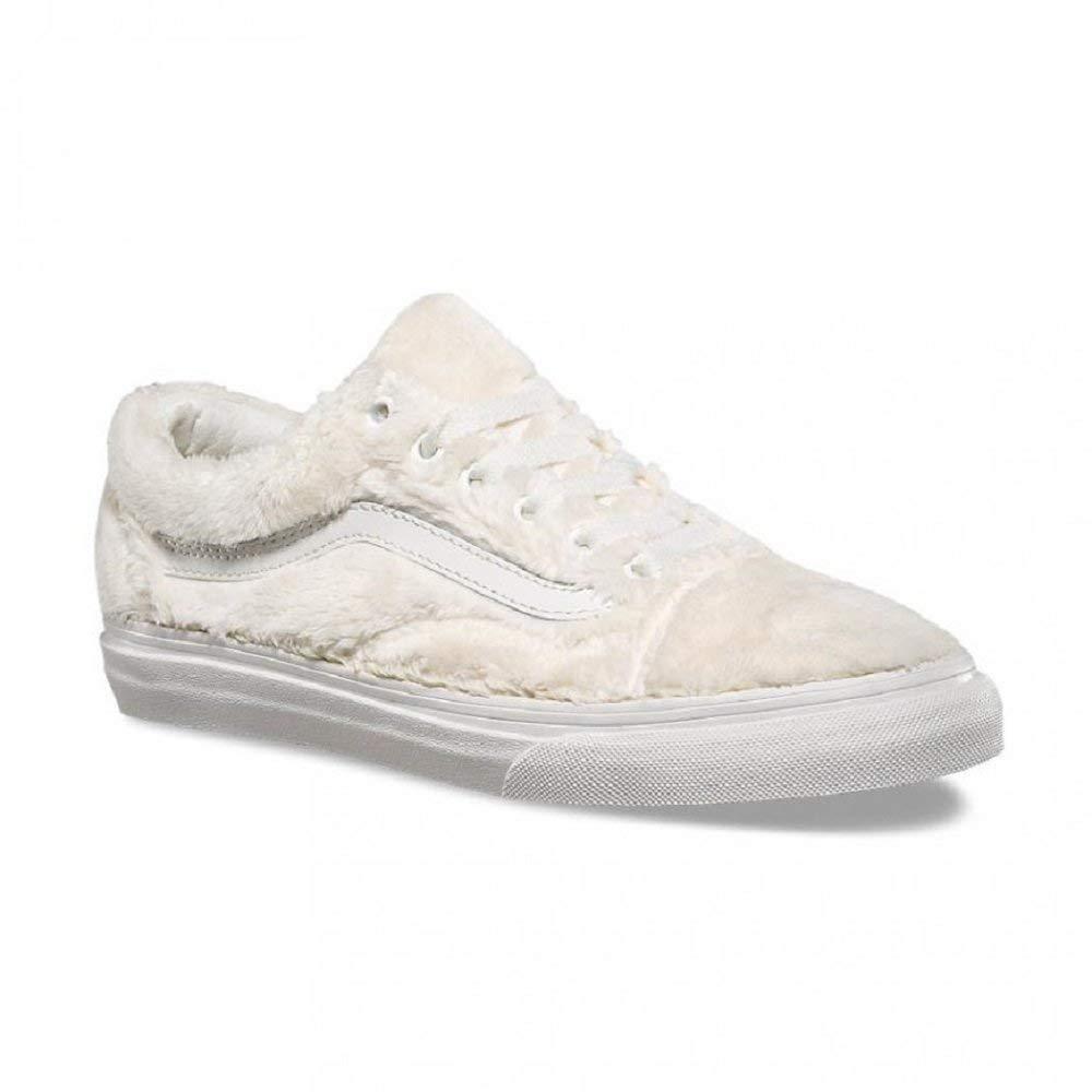 VANS Old Skool (Sherpa) Turtledove white de white Fur Women's shoes Size 9.5