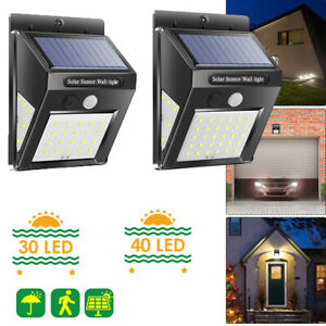 Details About 2pcs 30 40led Outdoor Led Solar Powered Light Motion Sensor Security Wall Lights