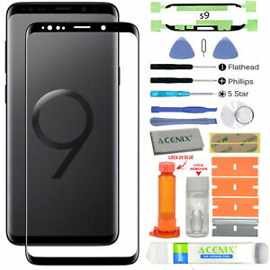 For-Samsung-Galaxy-S9-G960-OEM-Black-Front-Screen-Glass-BLack-Replacement-Kit