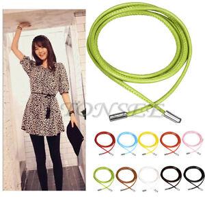 Fashion-Women-039-s-Lady-Girl-Skinny-Waist-Belt-Thin-Leather-Waist-Chain-Waistband