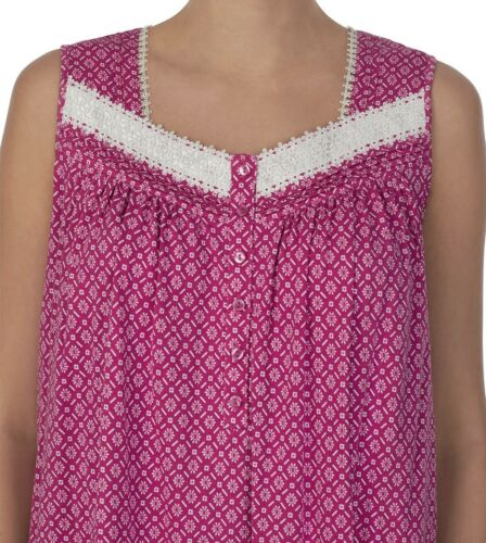 26-28 4X Women/'s Nightgown Sleeveless BRAND NEW // TAG Dark Fuschia