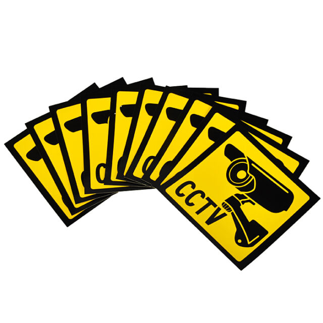 10 PCS Home CCTV Surveillance Security Camera Sticker Warning Decal Signs