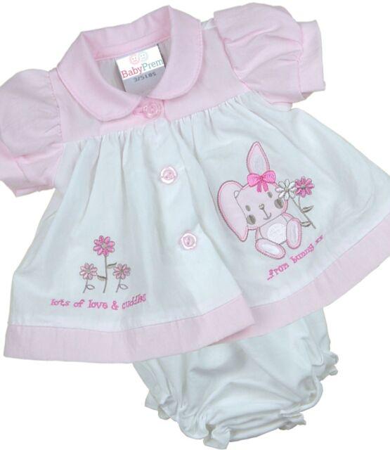 e3157f327ca9 BabyPrem Premature Preemie Tiny Baby Clothes Girls Dresses Bunny ...