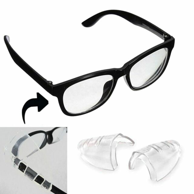 1 Pair Goggles Side Shields Flexible Glasses Clear Safety Eye Protective
