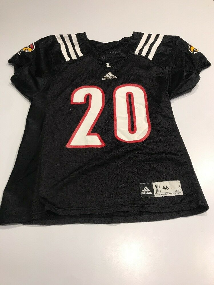d9adbf8fcbb Game Game Game Worn Used Louisville Cardinals UL Football Jersey Adidas  Size 46 56a3d9 Nike Zoom Train Incredibly Fast - Grey - Mens ...