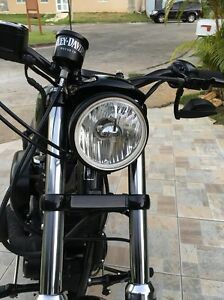 HARLEY-SPORTSTER-5-3-4-034-REPLACEMENT-HEADLIGHT-WITH-REPLACEABLE-CLEAR-H4-BULB