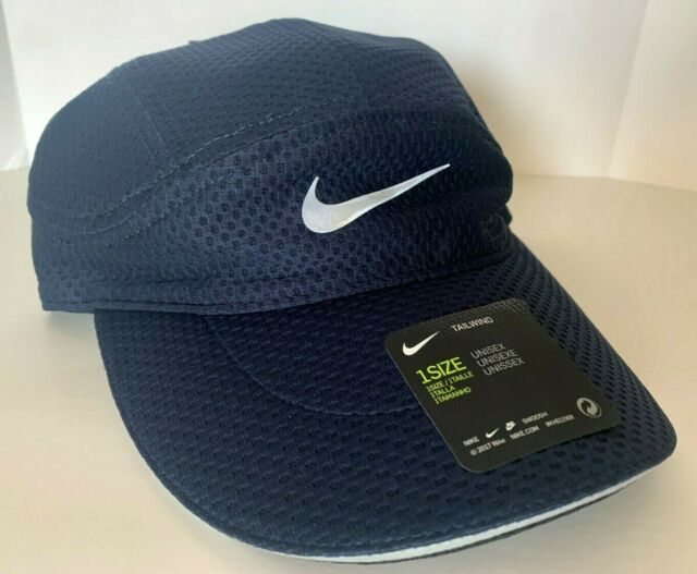 despreciar Antorchas Realizable  Nike Aerobill Tailwind Hat Navy Blue Running Cap Dri Fit Ci5667 451 for  sale online | eBay
