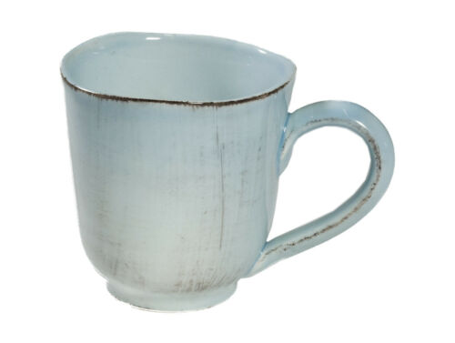 Tasse Jumbobecher türkis Organica italienische Keramik Handarbeit Virginia Casa